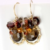 Smoky Quartz Bushel Earrings