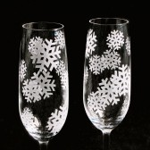 Snowflake Champagne Flutes, Winter Wonderland Wedding