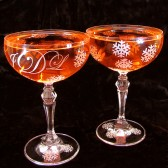 Snowflake Champagne Saucers