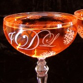 Winter Wonderland Wedding Champagne Coupes