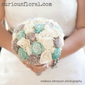 large ivory grey aqua bouquet