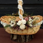sola rose flower girl basket