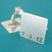 Personalized Solid Sterling Silver Cuff Links
