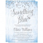 Silver Confetti Something Blue Bridal Shower Invitations by The Spotted Olive