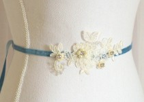 something blue lace sash