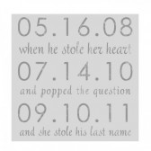 keepsake wall sign with dates we met