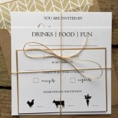 Rustic Square Invitation