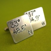 Personalized Latitude Longitude Cuff Links