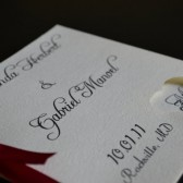 Elegant Square Wedding Program