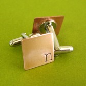 Offset Initial Cuff Links