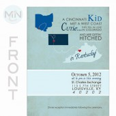 Wedding Table Setting, Invitation, Save the Date, Program Map State Design