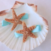 Teal Mermaid Barrettes for Beach Wedding