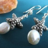Starfish Wedding Earrings