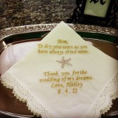 Starfish Wedding Handkerchief