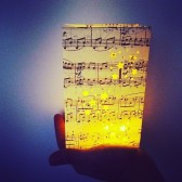 Sheet Music Luminaries, Music Luminaries, Music Decorations, Starry Night