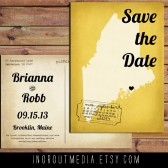 Retro State Save the Date