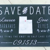 Chalkboard State Save the Date