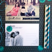 Rustic chic wedding save the date photo postcards are perfect for a winter wedding. Elegant and sophisticated. Vintage feel. DIY or printed.
