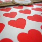 "Small Red Heart Stickers - Set of 108, 0.75"" x 0.75"""
