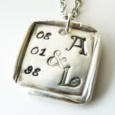 Story Book Couple ~ Personalized Pendant or Wedding Bouquet Charm