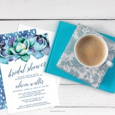 Succulent Garden Bridal Shower Invitations by The Spotted Olive