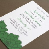 Sweet Succulents Wedding Invitations
