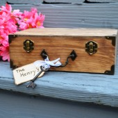 Suitcase Guest Book Box