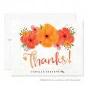 Summer Garden Floral Thank You Cards by The Spotted Olive