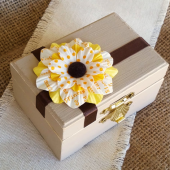Sunflower Wedding Ring Box, Ring Bearer Box