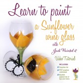 Learn to paint your own sunflower wine glasses