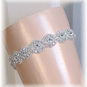 Couture Crystal Rhinestone Wedding Garter, Bridal Garter, Bridal Belt, Garter