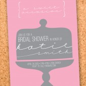 sweet occasion bridal shower invitation
