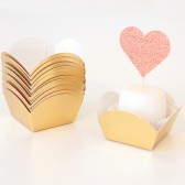 Gold Foil Mini Dessert and Candy Cups