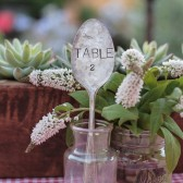 Vintage Silverware Hand Stamped Table Numbers