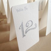 Silver Table Number Tents