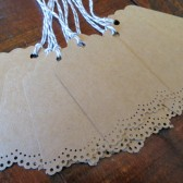 Blank Doily Lace Kraft Wedding Escort Tags and Favor Tags