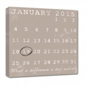 calendar wall art canvas