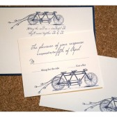 Bike Built for Two Tandem Bicycle Wedding Invitation