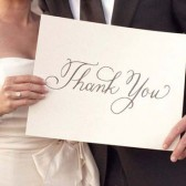 Calligraphy Thank You Sign