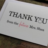 Thank You From the Future Mrs. card