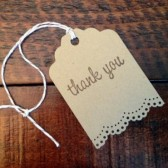 Kraft Thank You Gift Tags