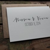 Bride and Groom Wedding Thank You Card