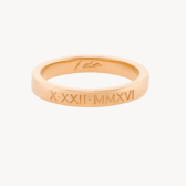thin classic engraved wedding band