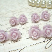 Four Pair of Thistle Purple Flower Earrings