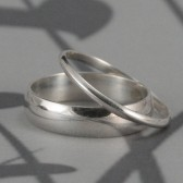 Through Thick and Thin Wedding Band Set