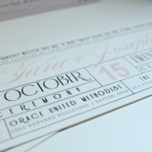 Hollywood movie ticket wedding invitation