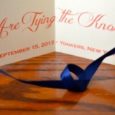 Tie the Knot Save the Date with Ribbon