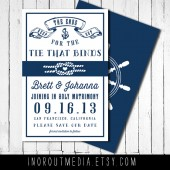 Rustic Nautical Save the Date