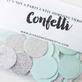 Tiffany blue and silver glitter confetti packet – Limited Edition