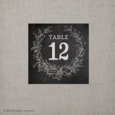 Chalkboard Wreath Table Numbers